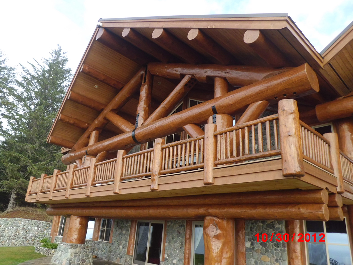 how to clean log siding